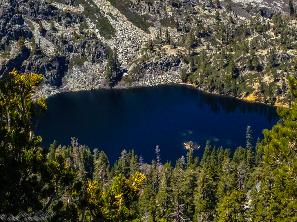A view of Eagle Lake from the saddle of Maggie's Peaks. Almost 8,000 feet up.
