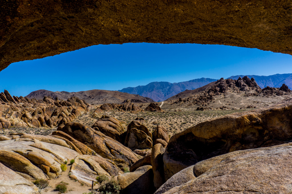 Looking east through Mobius Arch