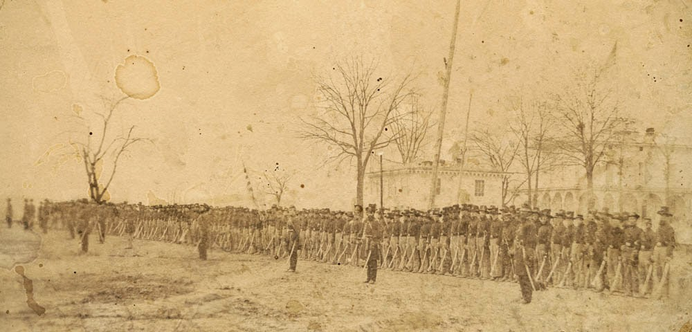 2nd Wisconsin Cavalry at Benton Barracks, St. Louis, Missouri. Credit - Chubachus