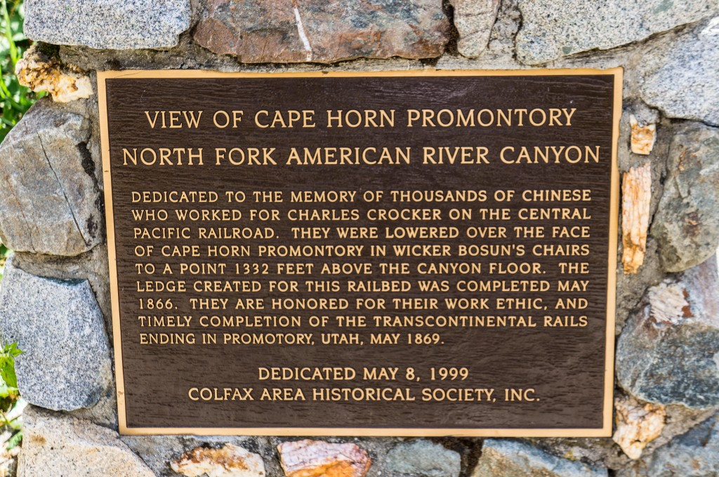 Historical marker outside of Colfax