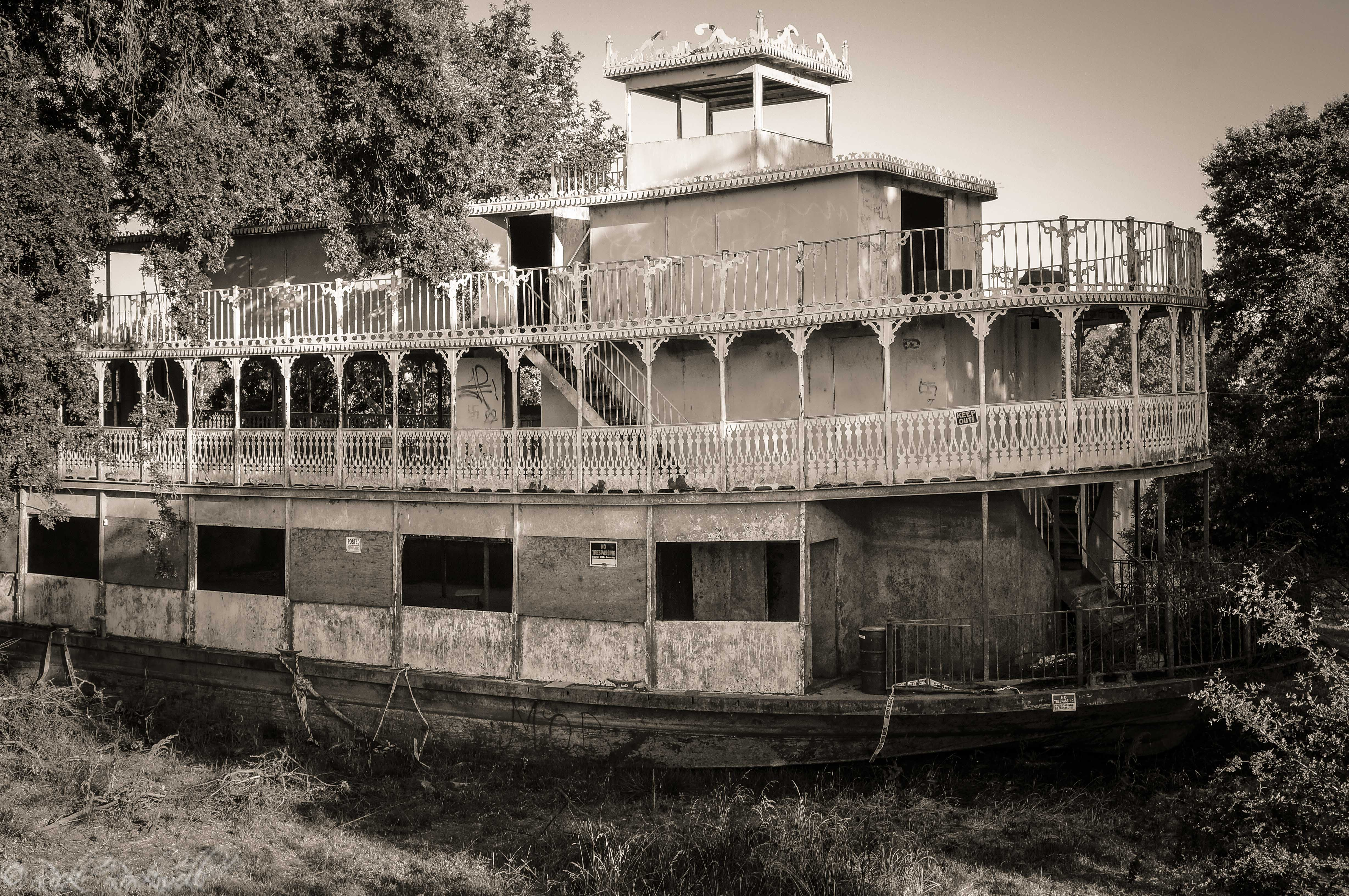 The Spirit Of Sacramento Abandoned Riverboat On The