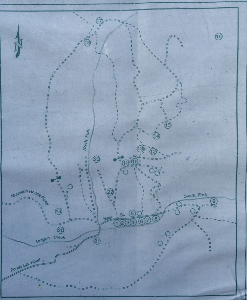 Map for Self Guided Walking Tour of Forest City