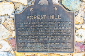 foresthill histoircal marker (1 of 1)