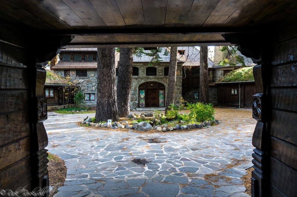Entering Courtyard