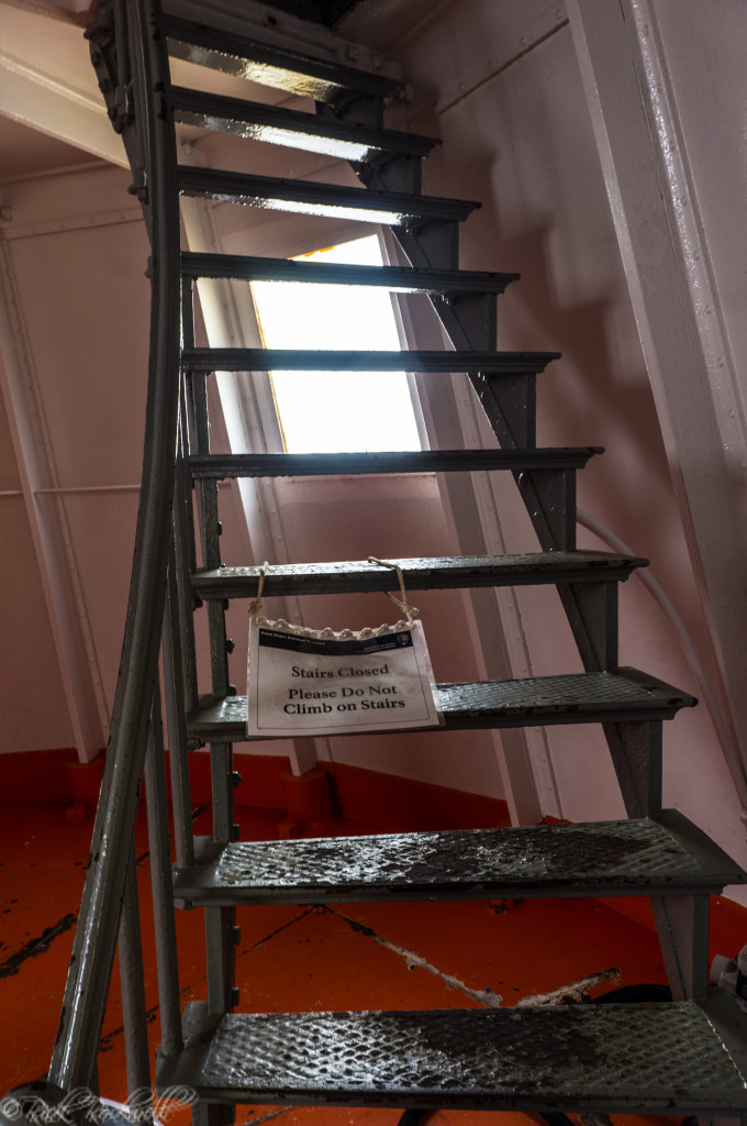Stairs inside light tower