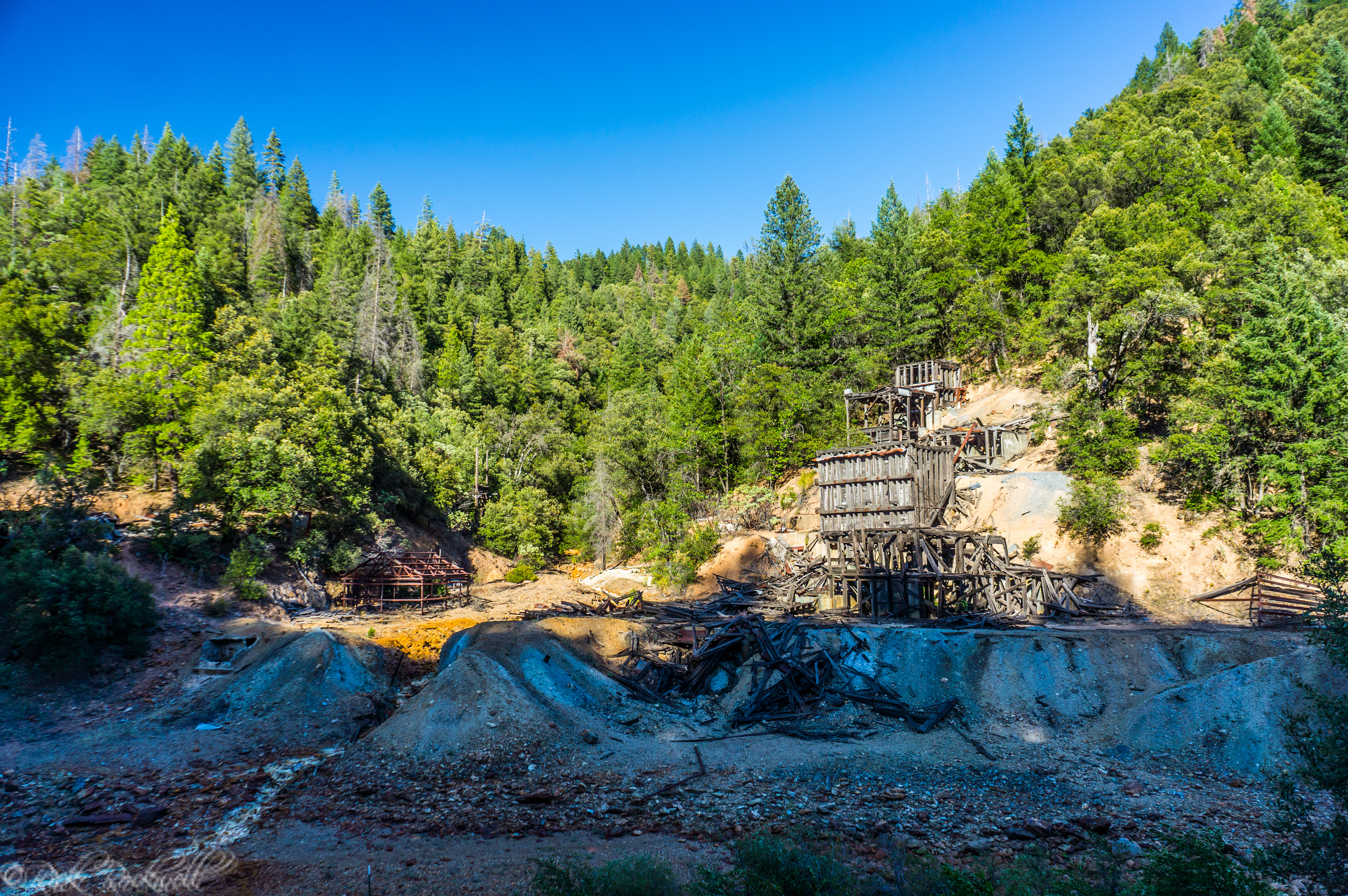 Photo of Shasta County's Afterthought Mine is fading away