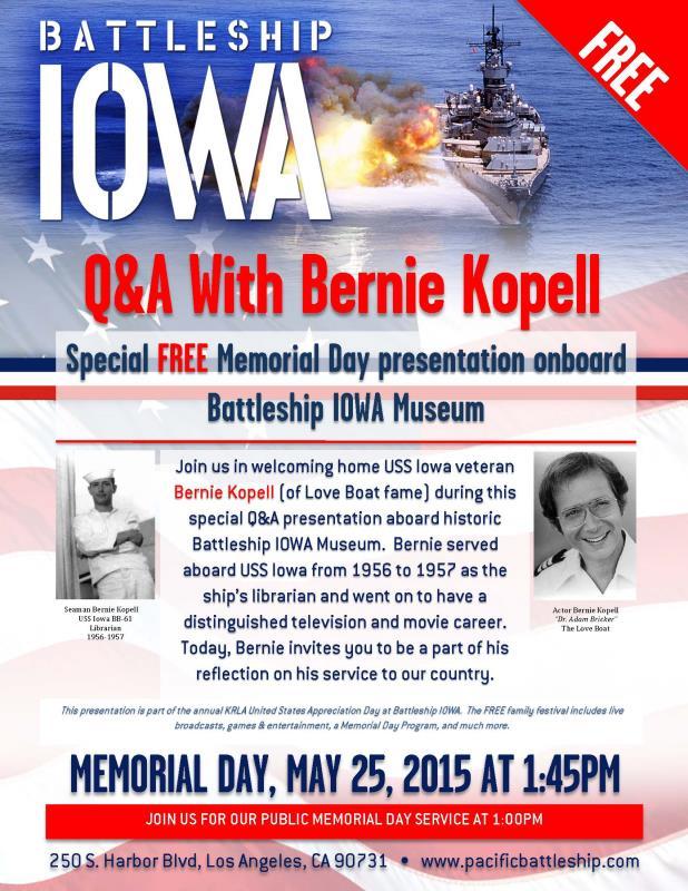 Photo of Celebrate Memorial Day aboard the Battleship Iowa