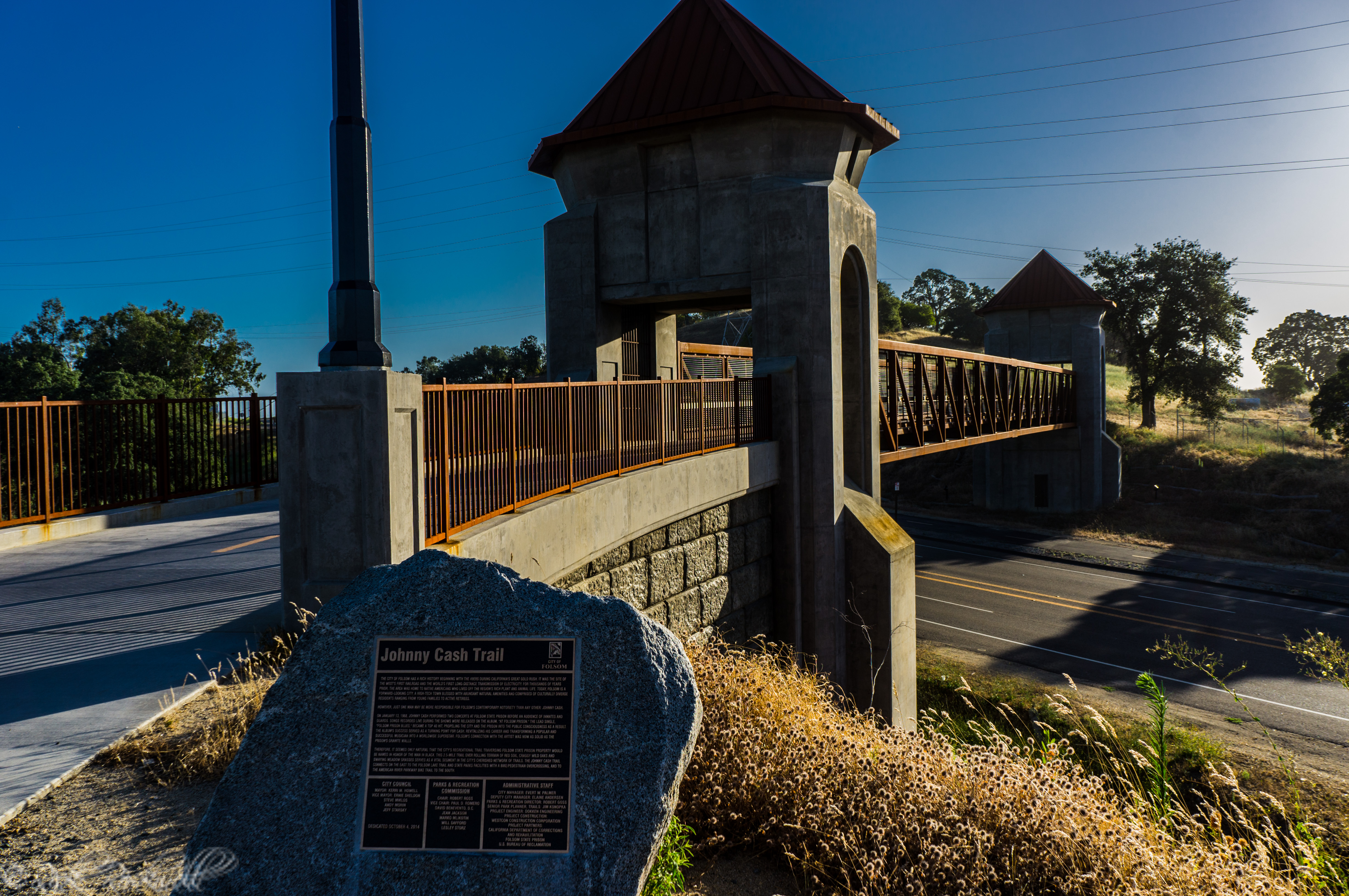 Photo of Johnny Cash Trail: Walk the Line across the overpass