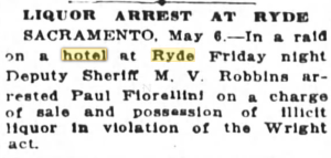 liquor arrest ryde may 7 1923 SF chronicle