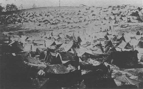 Andersonville in August 1864. Credit - NPS.gov