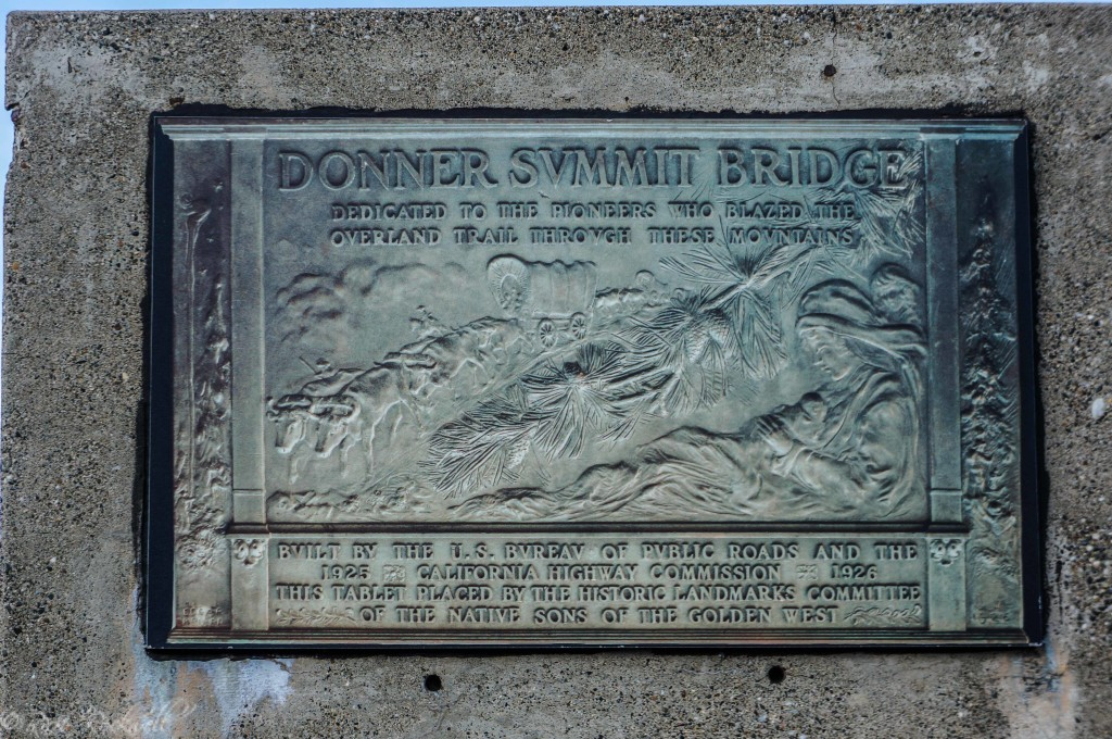 Plaque on Donner Summit Bridge