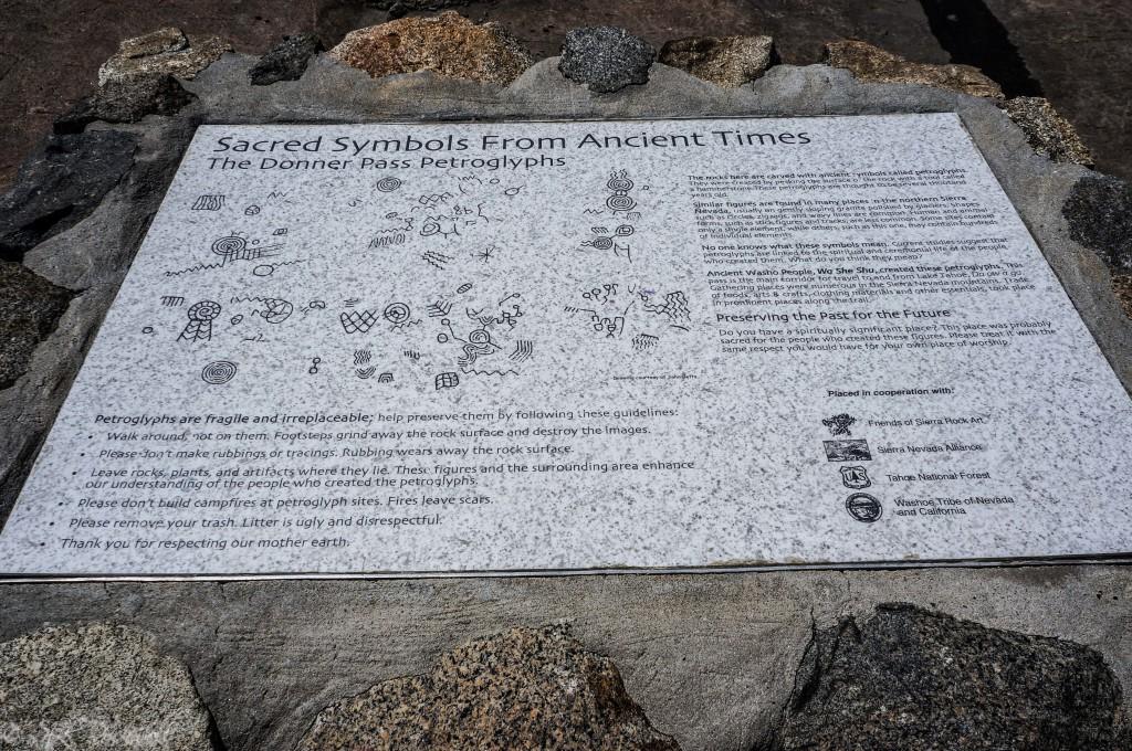 Donner Summit Petroglyphs marker