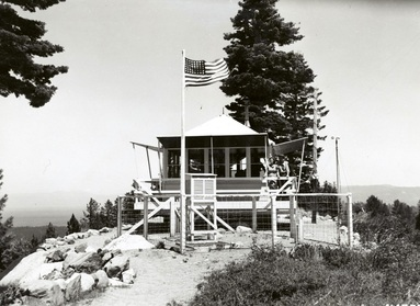 Angora Fire Lookout in 1941 Source: National Archives
