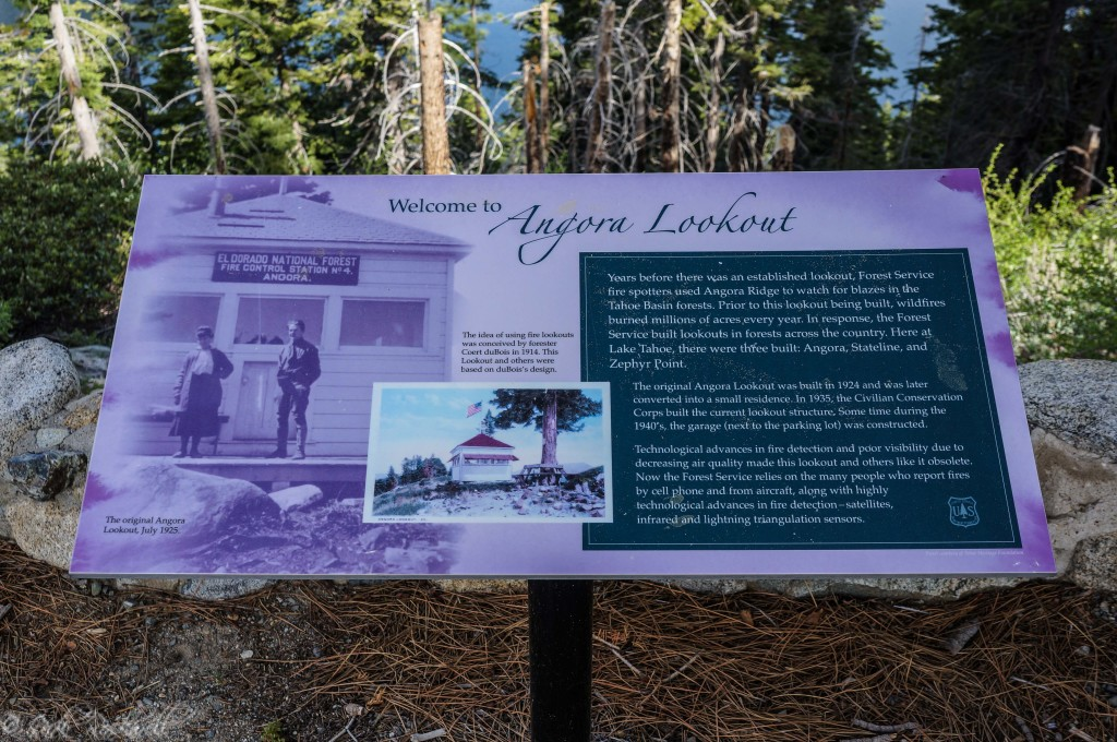 Angora Fire Lookout interpretive sign