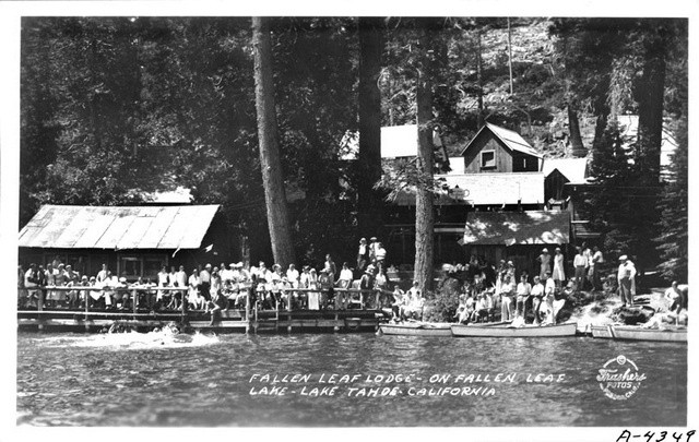1931-1932 Fallen Leaf Lake Lodge.. Photo Credit: Pomona Public Library - Frasher Foto Postcard Collection