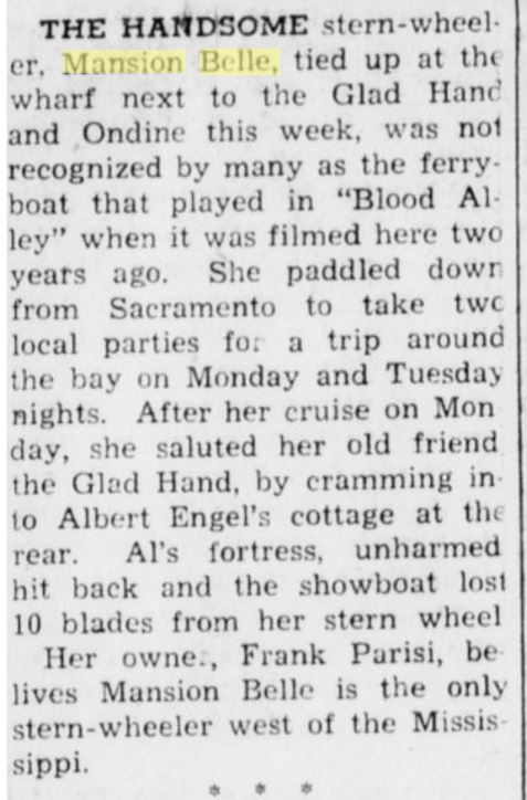 Sausalito News April 24, 1957