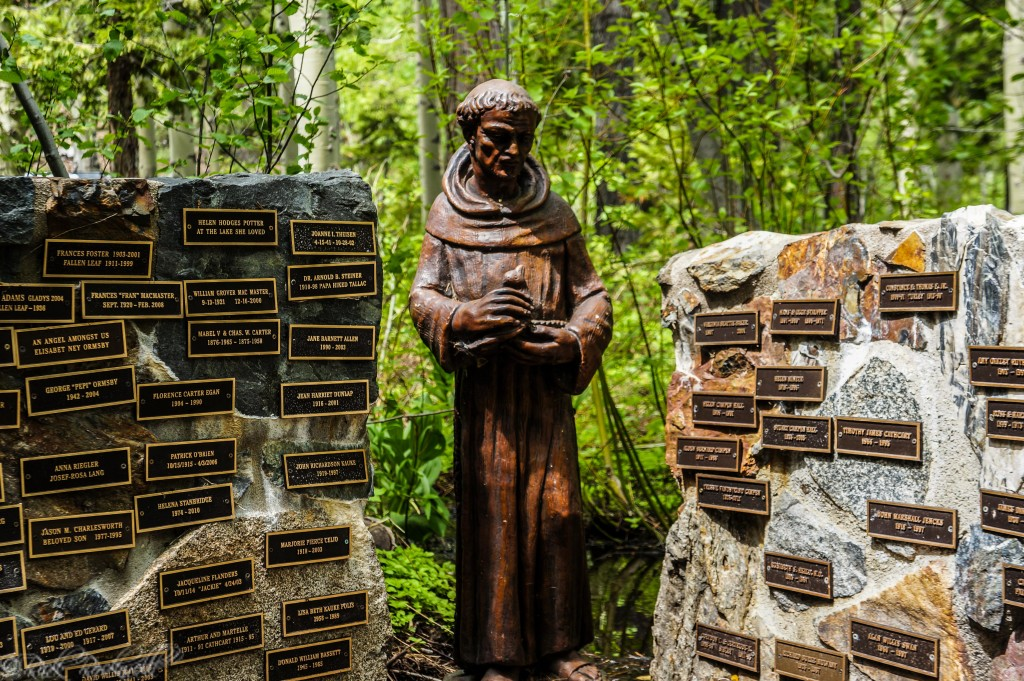 St. Francis statue in the Memorial Garden