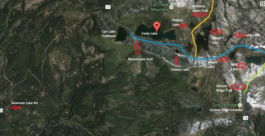 Round Lake Trail Map - Made on Google Maps